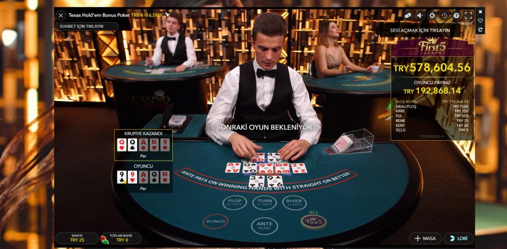 Canlı Poker Masaları