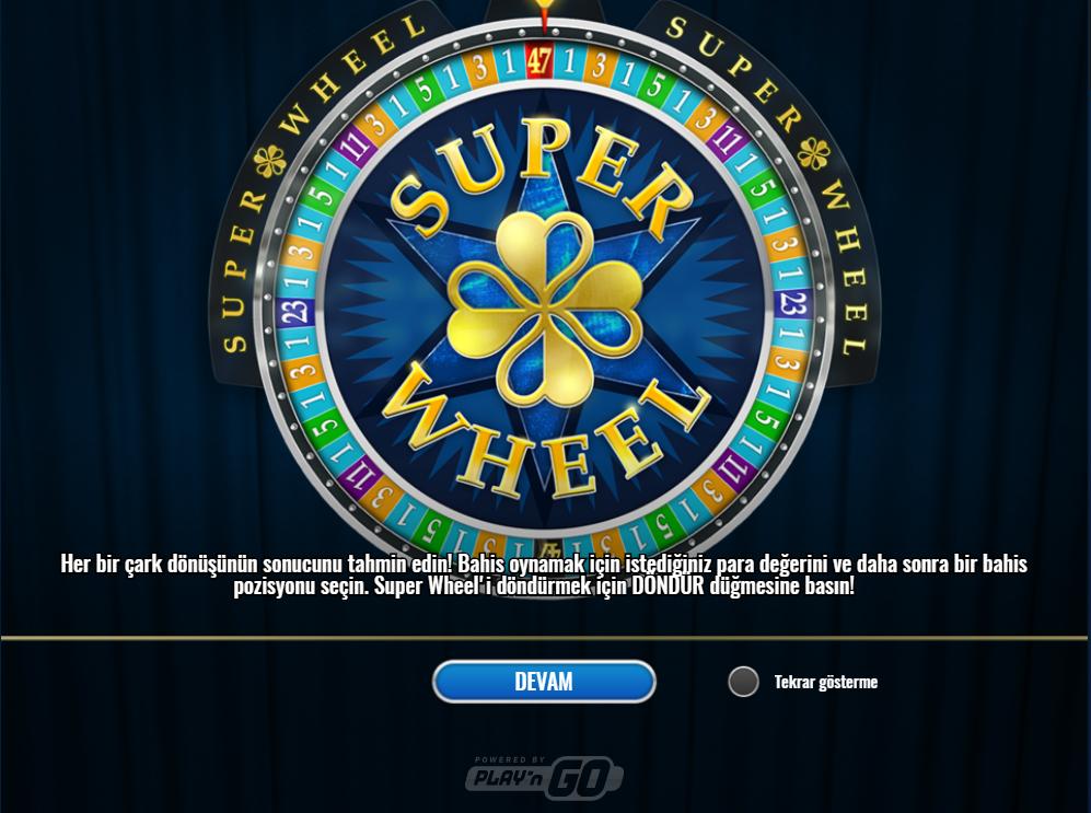 Super Whell oyunu