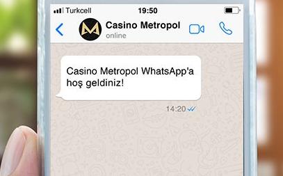 Whatsapp Bonusu Casino Metropol'de